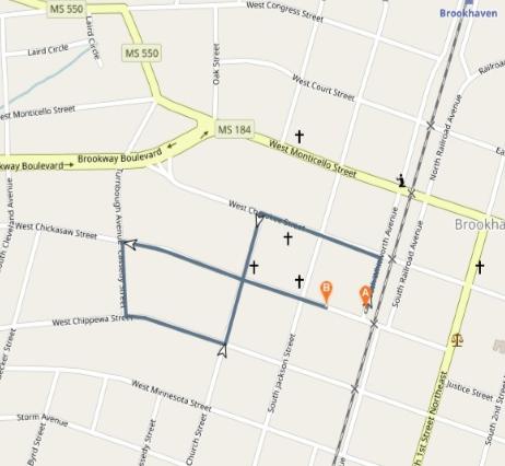 1 mile route